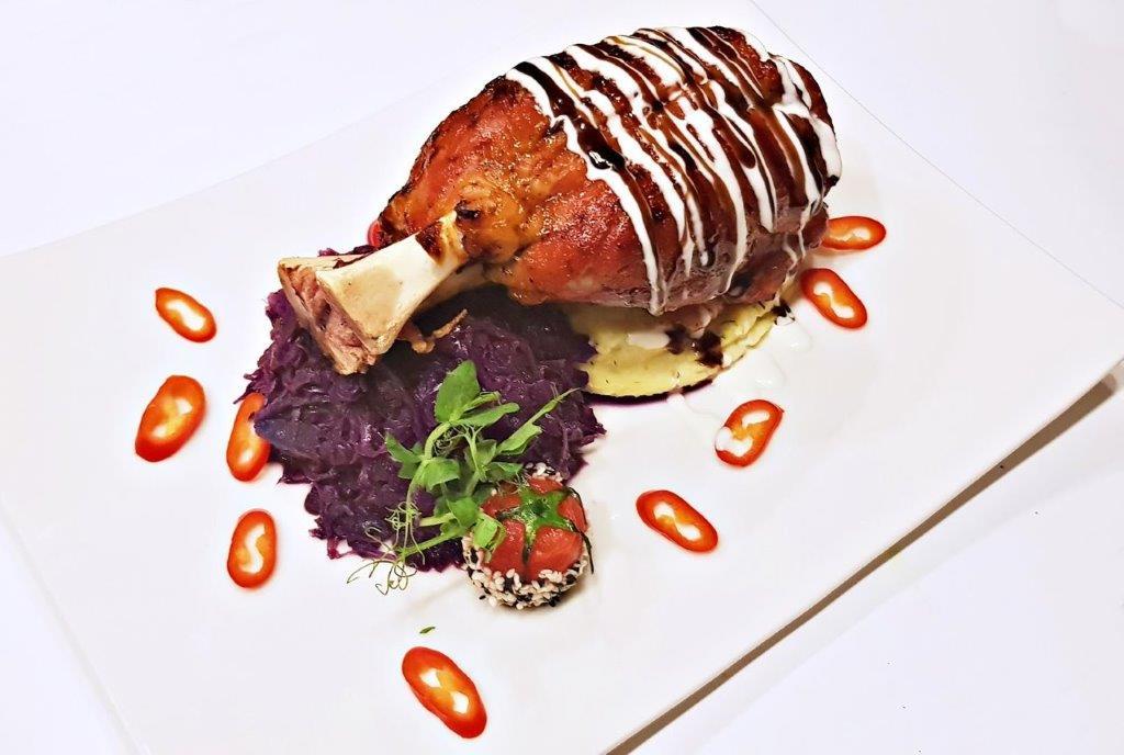 Pork Chop Served with Bavarian Braised Cabbage